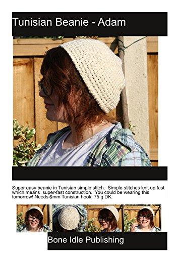 Adam - Tunisian Crochet Beanie: Cozy simple stitch hat