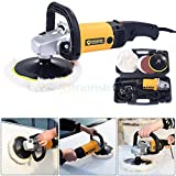 New 7'' Electric 6 Variable Speed Car Polisher Buffer Waxer Sander Detail Boat