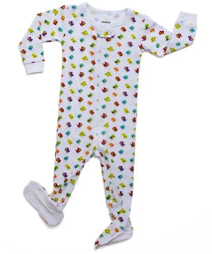 "Leveret Footed Little Boy, Girl ""Birds Design"" Pajama 100% Cotton (Size 6M-5T)"