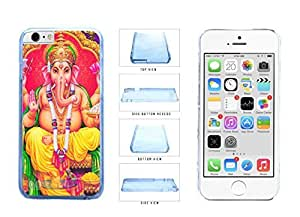 Colorful Ganesha Clear Plastic Phone Case Back Cover Apple iPhone 6 (4.7 Inches)