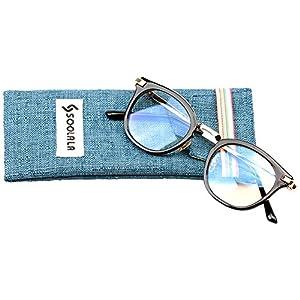 SOOLALA Womens Hot Fashion Cateye Eyeglass Frame Stylish Reading Glasses, BlackGold, +1.5D