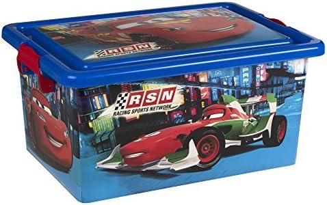 ColorBaby - Caja ordenación 13 litros, diseño cars (76610): Amazon ...