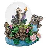Tabby Kittens 3 x 3 Miniature Resin Stone 45MM Water Globe Table Top Figurine