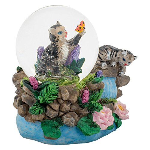 Mm Globe Water 45 (Tabby Kittens 3 x 3 Miniature Resin Stone 45MM Water Globe Table Top Figurine)