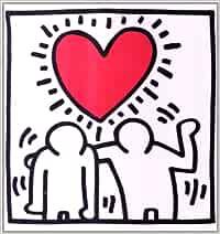 Wedding invitation. Keith Haring I maestri della pop art