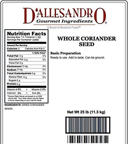 Coriander Seed, Extra Bold - 25 Lb Bag / Box Each