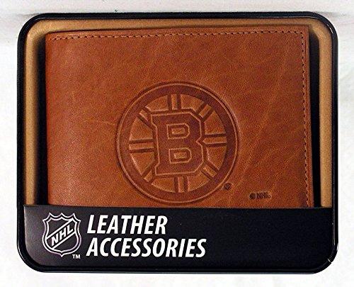 (NHL Embossed Billfold Wallet NHL Team: Boston Bruins)