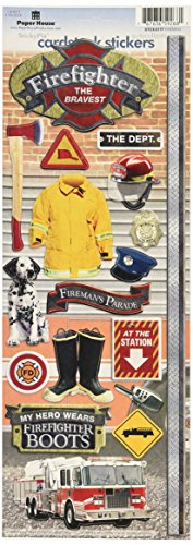 Paper House Productions Fireman Cardstock Stickers (Epoxy Chipboard)