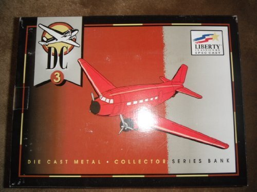 (DC 3 Die cast metal WWII Airplane Collectors series Bank)