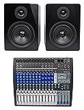 Presonus StudioLive AR16 18-Ch USB Live Sound/Recording Mixer+2) Studio Monitors