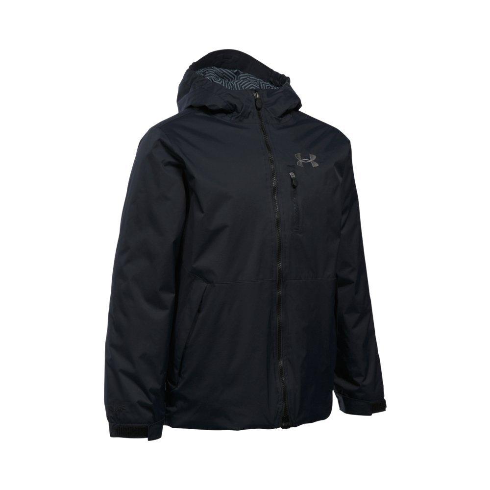 Under Armour Boys UA ColdGear Yonders Jacket (Big Kids), Black (001)/Graphite, Youth Medium