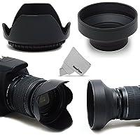 55MM Lens Hood Kit includes 55mm Hard Lens Hood and 55mm Soft Lens Hood for 55MM Lenses and Cameras