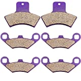SCITOO Front Rear Kevlar Carton Pads Brake Pads fit 1998 1999 2000 2001 2002 Polaris Sportsman 500 4x4 HO