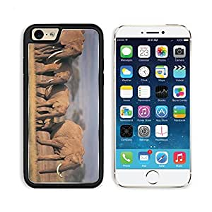 Elephants Crowd Family Grass Care Apple iPhone 6 TPU Snap Cover Premium Aluminium Design Back Plate Case Customized Made to Order Support Ready Liil iPhone_6 Professional Case Touch Accessories Graphic Covers Designed Model Sleeve HD Template Wallpaper Ph wangjiang maoyi