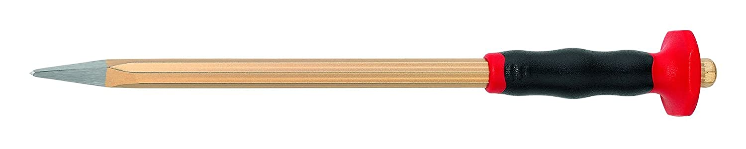 Rennsteig 361 256 1 Pointed Electrician's Chisel, Gold/Red, 250mm