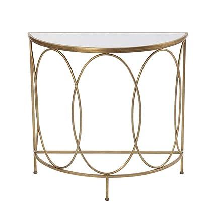 Surprising Amazon Com Folding Table Chunlan Wrought Iron Gold Semi Home Remodeling Inspirations Genioncuboardxyz