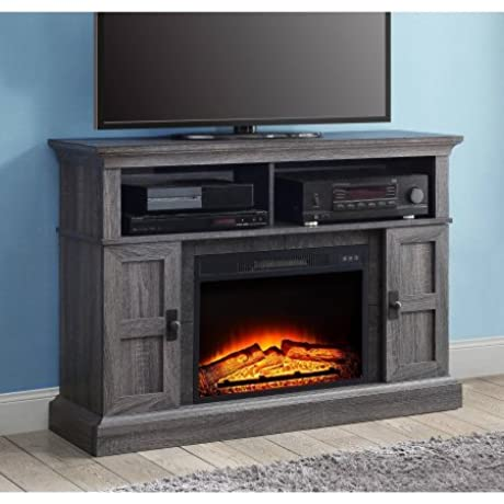 Whalen Media Fireplace Console For TVs Up To 55 Gray