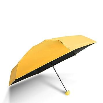 Sabarry Mujer Sol UV Funda Paraguas automático bastón Pantalla Grande niños Amarillo Amarillo Talla única