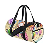 U LIFE Summer Ocean Sea Beach Tropical Sports Gym Shoulder Handy Duffel Bags for Women Men Kids Boys Girls