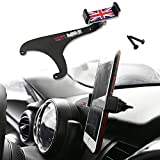 GTINTHEBOX Smartphone Cell Phone Cup Mount Holder with Cradle Rotatable Clip (Red & Blue Union Jack UK Flag Style, 3.5-5.5 inch Phone) for 2017 & up Mini Cooper Countryman F60, 1 Pack