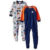 Gerber Little Boys' Baby 2 Pack Blanket Sleepers, Sports Balls, 4T