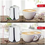 Stainless Steel Milk Frothing Pitcher (20 oz.) with