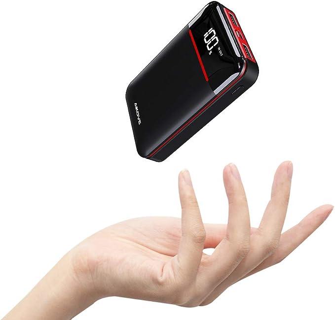 Aikove - Batería Externa de 10000 mAh, Cargador portátil con 2 ...