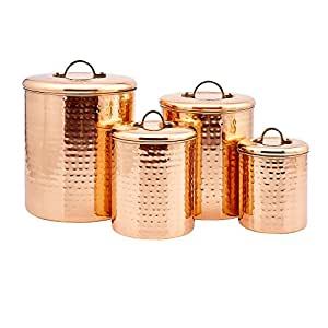 Amazon Old Dutch Hammered Copper Canister Set Set of 4