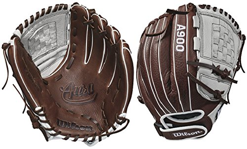 Glove Right Hand Thrower (Wilson 2018 Aura Pitcher's/Infield Fastpitch Gloves - Right Hand Throw Ivory/Dark Brown, 12
