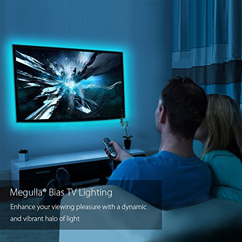 Megulla bias tv lighting kit accentambient tv lighting precut usb megulla bias tv lighting kit accentambient tv lighting precut usb led rgb strip lights tv backlight kit with remote for tv pc home theater and desktop aloadofball
