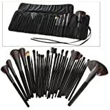 32 PCS Makeup Brush Set + Black Pouch Bag by Science Purchase