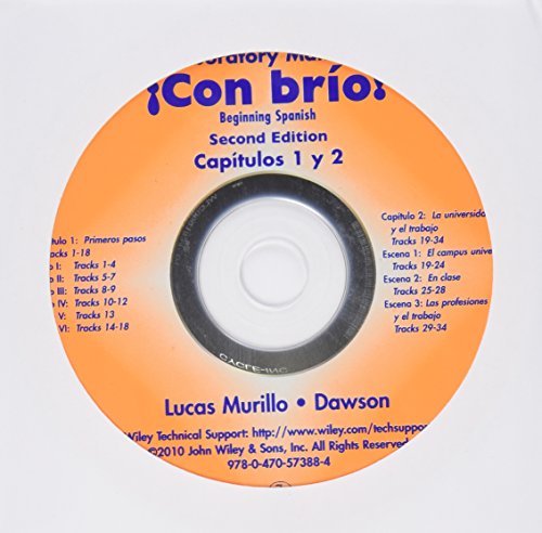 Lab Audio CDs to accompany Con brio: Beginning Spanish