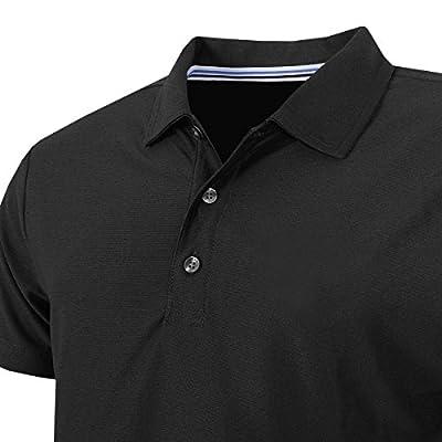 Calvin Klein Golf Men's Classic Central Polo, Black, XXL