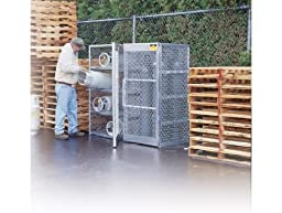 Justrite 23006 Welded Aluminum 10 Compressed Gas Cylinder Vertical Locker, 30\