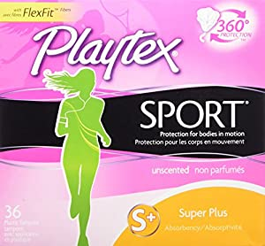 Playtex Sport Tampons, Unscented