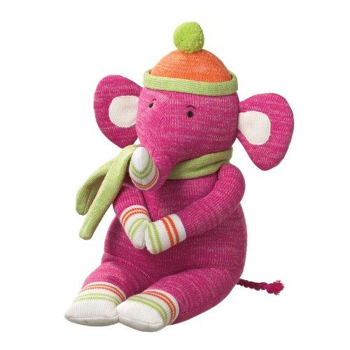 Monkey Sock Monkeez - Midwest-CBK Emily Elephant Acrylic Yarn Collectible, Medium