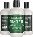 #2: Antifungal Tea Tree Oil Body Wash - Antibacterial Wash Helps Eliminate Body Odor, Athlete's Foot, Acne, Toenail Fungus & Jock Itch Soothes Body Itch, Eczema & Skin Irritations-Premium Anti-fungal Soap