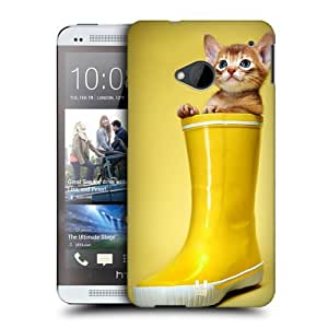 Head Case Designs Abyssinian Kitty In A Boot Funny Animals Protective Snap-on Hard Back Case Cover for HTC One by Maris's Diary