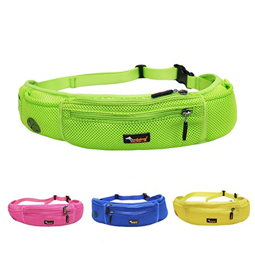 Waist Belt Production Pack - Ondoing Dog Treat Training Pouch with Poop Bag Dispenser Running Belt Waist Pack Fanny Pack Carries Treats Keys Cellphone Adjustable Waistband (Green)
