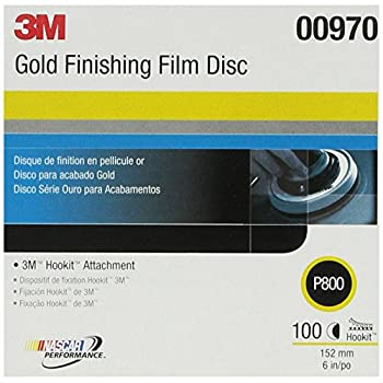 Image of 3M 00970 Hookit 6' P800 Grit Finishing Film Disc Home Improvements