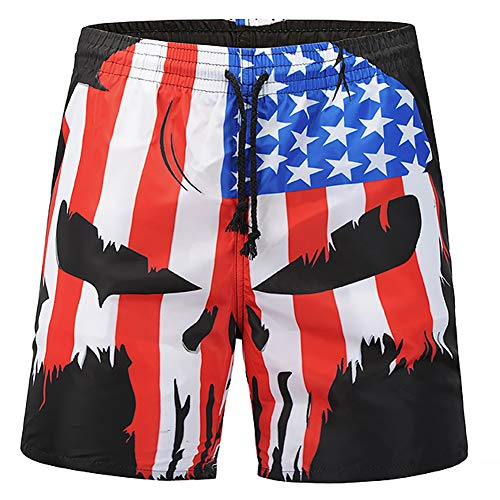 Black Sharks in Blue Board Short Quick Dry Swim Trunks 3D Printed Non-Fading Tropical Short
