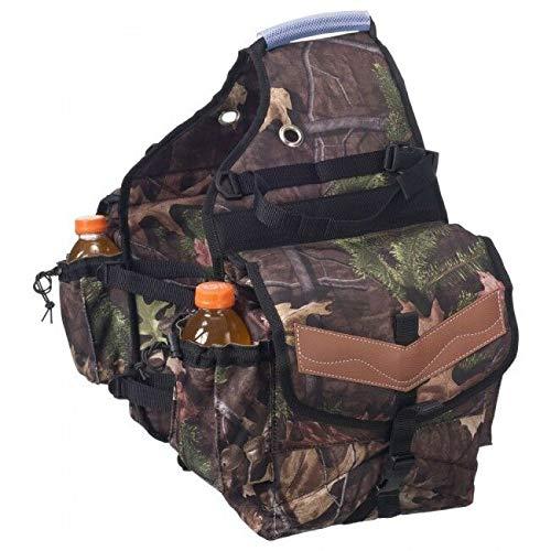 Tough-1 Printed Insulated Nylon Saddle Bag Timber