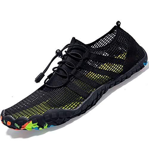 (Mens Women Water Sport Shoes Barefoot Quick-Dry Aqua Socks for Beach Swim Surf Yoga Exercise, 6 M US Women / 5 M US Men)
