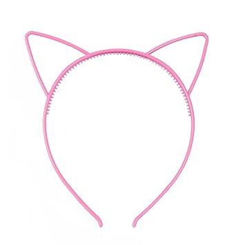 Amazon.com : super1798 3Pcs Lovely Cat Ears Design Women Girls Hoop Hairband Headband Party Hair Accessories Watermelon Red : Beauty