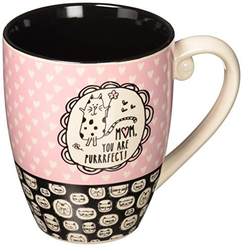Cat Purrrfect (It's Cats & Dogs Mom, You Are Purrrfect! Ceramic Extra Large Coffee Mug Tea Cup, 20 oz, Pink)