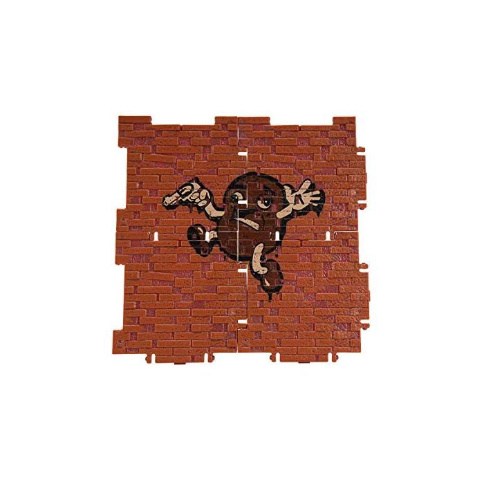"""51vpsYArAkL Mide 35,5 cm de alto e incluye 23 piezas, además de su relleno con una figura de 1 (4""""), 10 armas, 4 soplado de espalda, 8 materiales de construcción exclusivos. Echa un vistazo de varias maneras como abrir rápidamente tu lama de pinatas o colgar y romper abiertas para ver tu figura, accesorios y confeti se caerán. No diseñado para ser utilizado como un piñata real. 8 materiales de construcción de piedra crean 2 pulverizadores exclusivos de graffitis. Colecciona y conecta materiales de construcción para crear estructuras o utilizar materiales de construcción de madera individualmente como soportes de figuras de 10 cm."""