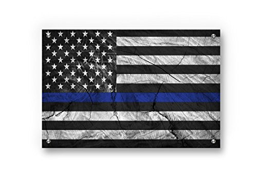 Buttered Kat Thin Blue Line  American Flag printed on Brushe