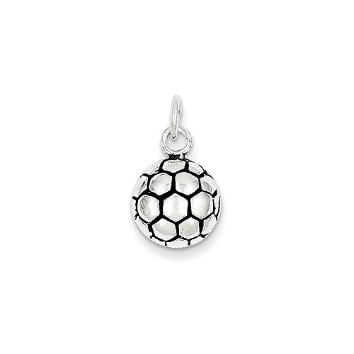Antiguo Plata de ley fuãÿ Balón de fútbol Encanto: Amazon.es: Joyería