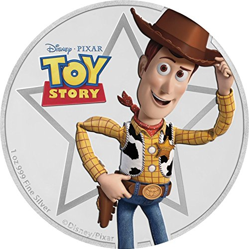 2018 NZ Niue 1 oz Silver $2 Disney Pixar Toy Story: Sheriff Woody 1 OZ Brilliant Uncirculated
