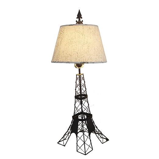 Lámpara de Escritorio Retro Torre Eiffel Diseñada Lámpara de Mesa ...